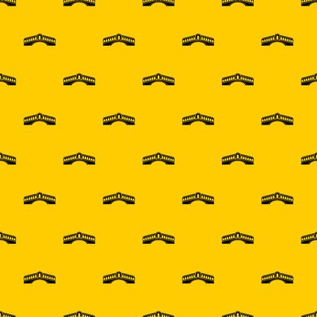 Venice bridge pattern seamless vector repeat geometric yellow for any design