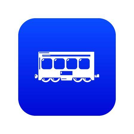 Fast train icon blue vector