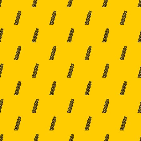 Tower of Pisa pattern seamless vector repeat geometric yellow for any design