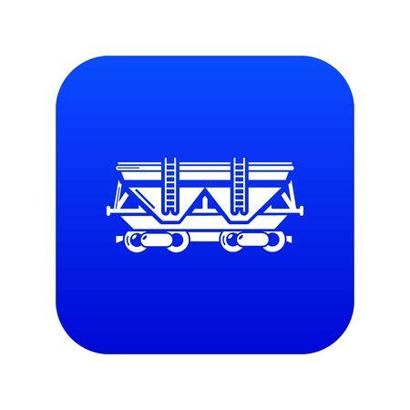 Wagon icon blue vector