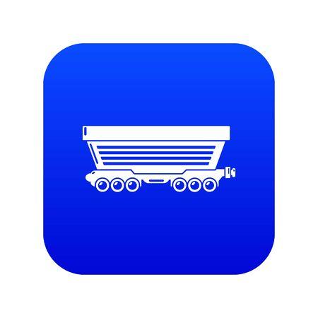 Freight car icon blue vector Standard-Bild - 126594873