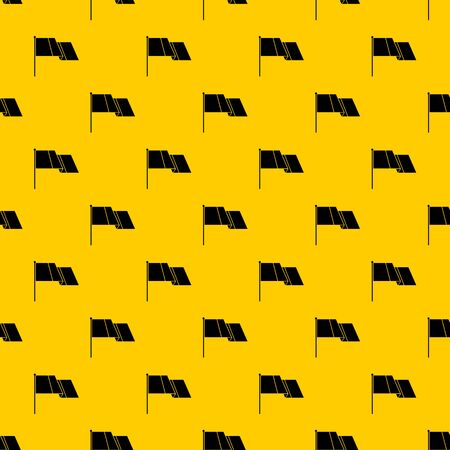 Flag pattern seamless vector repeat geometric yellow for any design