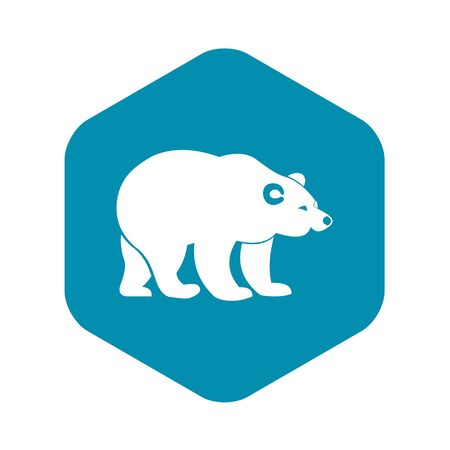 Bear icon. Simple illustration of bear vector icon for web