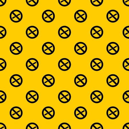 No smoking sign pattern seamless vector repeat geometric yellow for any design Ilustrace