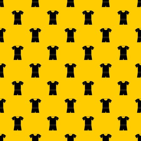 Sport shirt and shorts pattern seamless vector repeat geometric yellow for any design