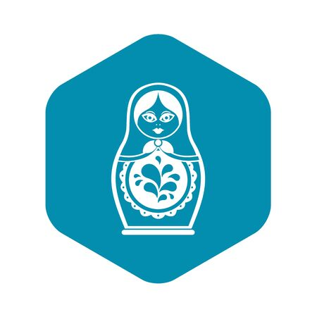 Matryoshka icon. Simple illustration of matryoshka vector icon for web