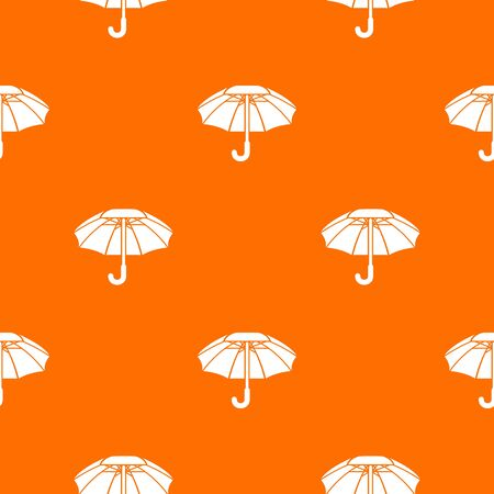Big umbrella pattern vector orange