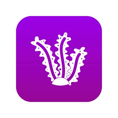 Seaweed icon digital purple for any design isolated on white vector illustration