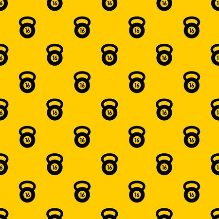 Kettlebell pattern seamless vector repeat geometric yellow for any design