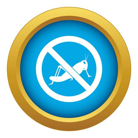 No locust sign icon blue vector isolated on white background for any design