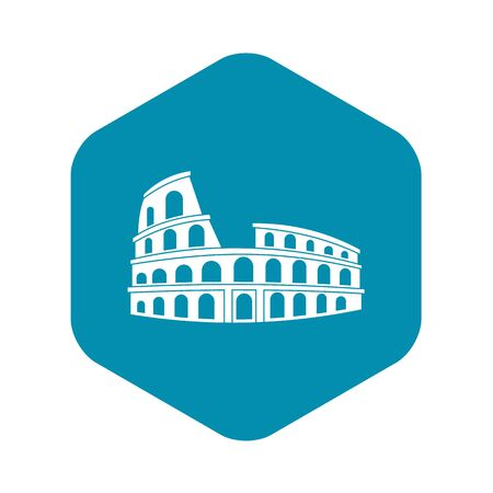 Roman Colosseum icon, simple style