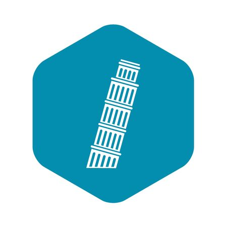 Tower of Pisa icon. Simple illustration of tower of Pisa vector icon for web