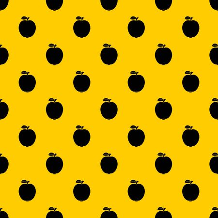 Black apple pattern vector