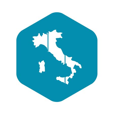 Map of Italy icon, simple style