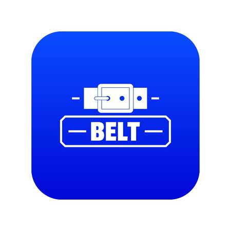 Belt fashion icon blue vector