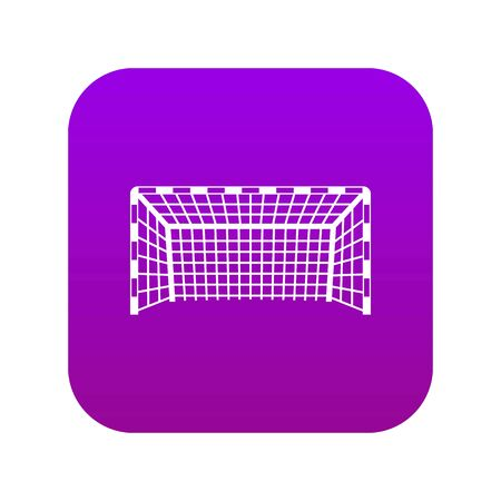 Goal post icon digital purple for any design isolated on white vector illustration Banque d'images - 130248832