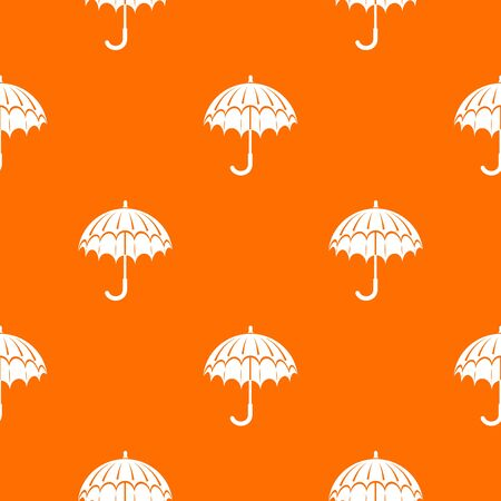 Opened umbrella pattern vector orange