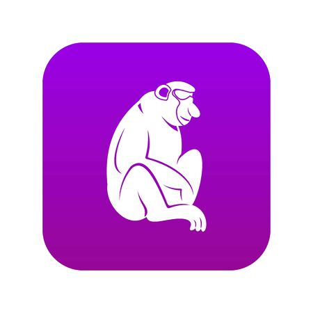 Orangutan icon digital purple for any design isolated on white vector illustration Banque d'images - 130248868