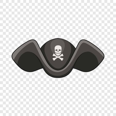Piracy hat icon. Cartoon illustration of piracy hat vector icon for web Illustration