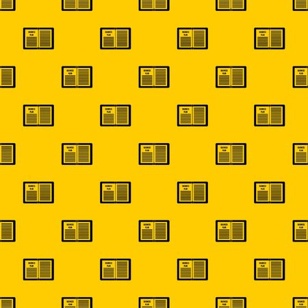 Business strategy plan pattern seamless vector repeat geometric yellow for any design