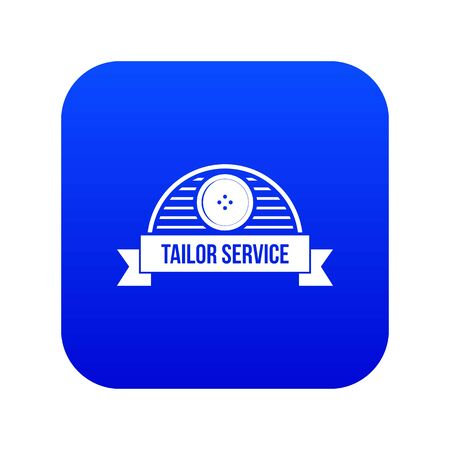 Tailor service icon blue vector