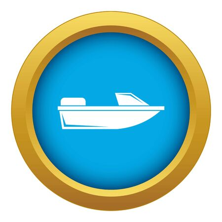 Sports powerboat icon blue vector isolated on white background for any design Stock Illustratie