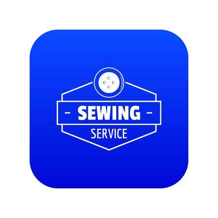 Icône de service de couture vecteur bleu