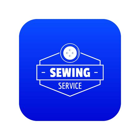 Sewing service icon blue vector