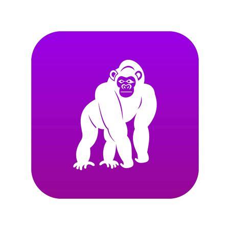 Bonobo icon digital purple for any design isolated on white vector illustration