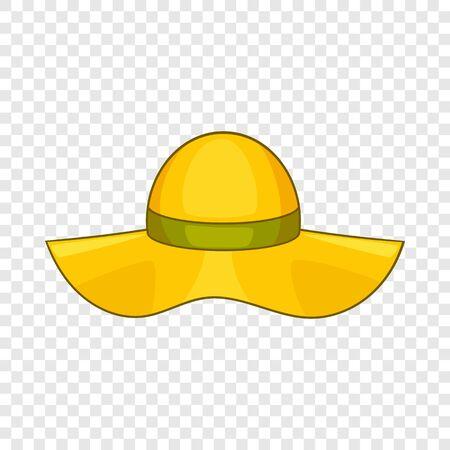 Sun hat icon. Cartoon illustration of sun hat vector icon for web design