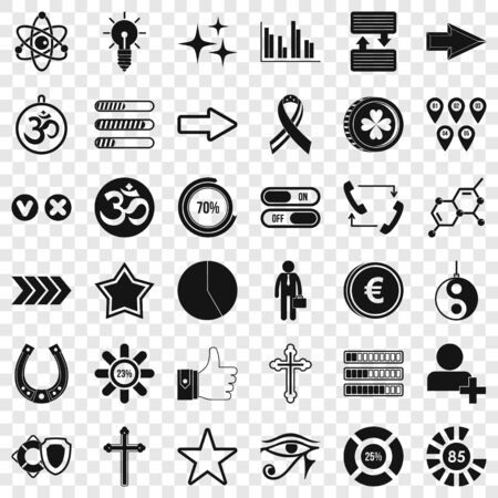 Graphic icons set, simple style