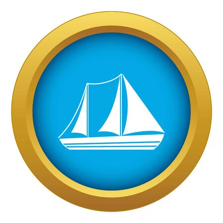 Yacht icon blue vector isolated on white background for any design