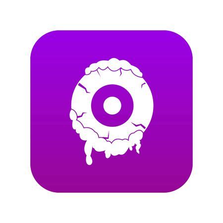 Scary eyeball icon digital purple for any design isolated on white vector illustration