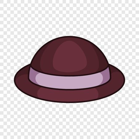 Lady hat icon. Cartoon illustration of lady hat vector icon for web design Ilustração