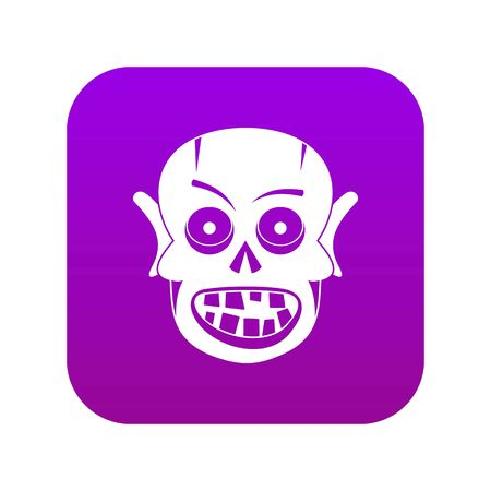 Living dead icon digital purple for any design isolated on white vector illustration