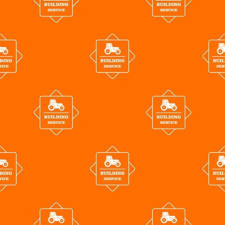 Building agency pattern vector orange Illusztráció