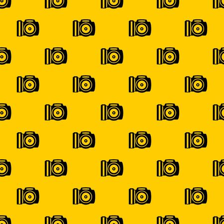 Camera pattern seamless vector repeat geometric yellow for any design