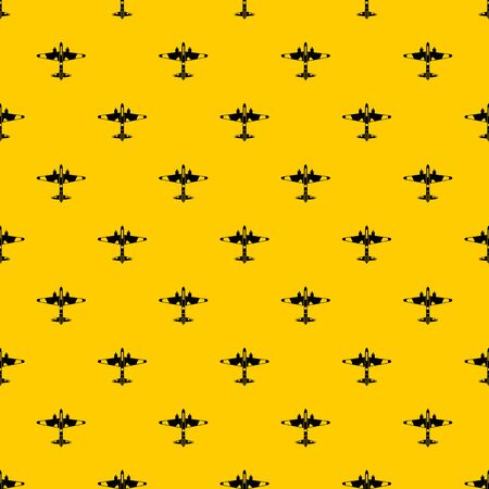 Military fighter aircraft pattern seamless vector repeat geometric yellow for any design
