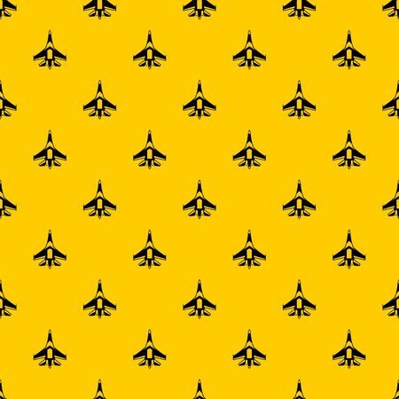 Jet fighter plane pattern seamless vector repeat geometric yellow for any design