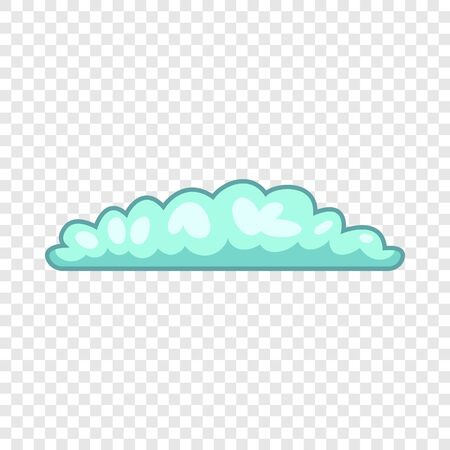 Cyclonic cloud icon, cartoon style Illustration