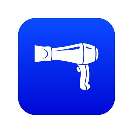 Hair dryer icon blue vector Vectores
