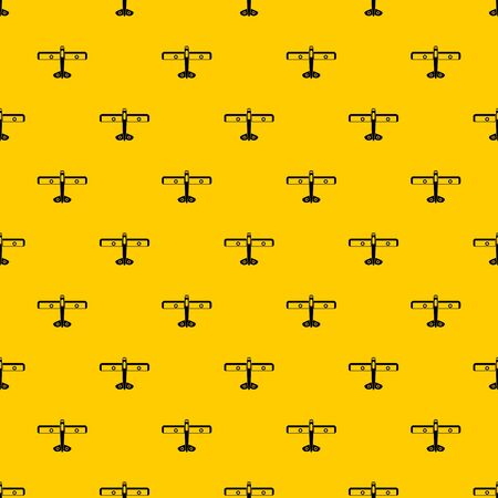Military fighter plane pattern seamless vector repeat geometric yellow for any design
