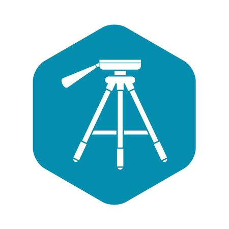 Tripod icon. Simple illustration of tripod vector icon for web  イラスト・ベクター素材