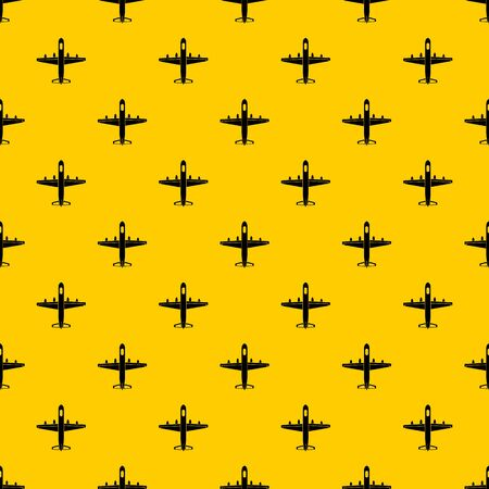 Military plane pattern seamless vector repeat geometric yellow for any design