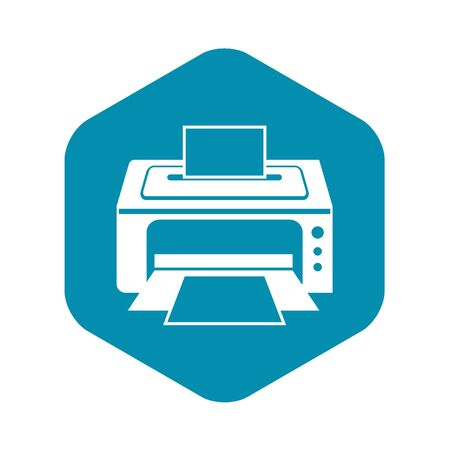 Printer icon. Simple illustration of printer vector icon for web Stock Illustratie