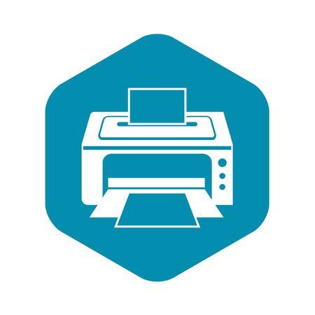 Printer icon. Simple illustration of printer vector icon for web Illustration