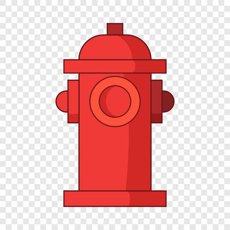 Fire water column icon, cartoon style