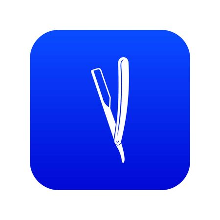 Razor icon blue vector