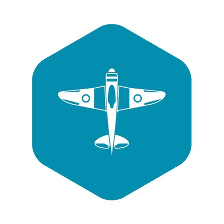 Military fighter plane icon. Simple illustration of military fighter plane vector icon for web Illustration