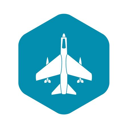 Armed fighter jet icon. Simple illustration of armed fighter jet vector icon for web